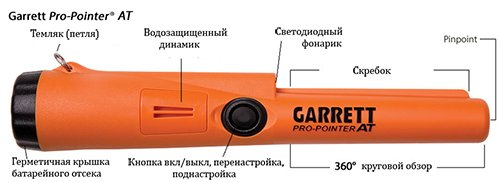 Garrett Pro-Pointer AT управление