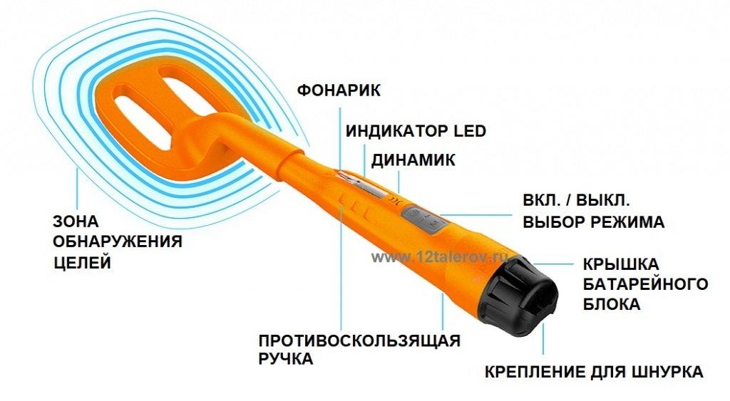 Quest Scuba Tector - дешевый подводный металлоискатель, погружение до 60 метров под воду