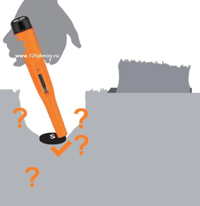 пинпинтер использование при поиске металлоискателем