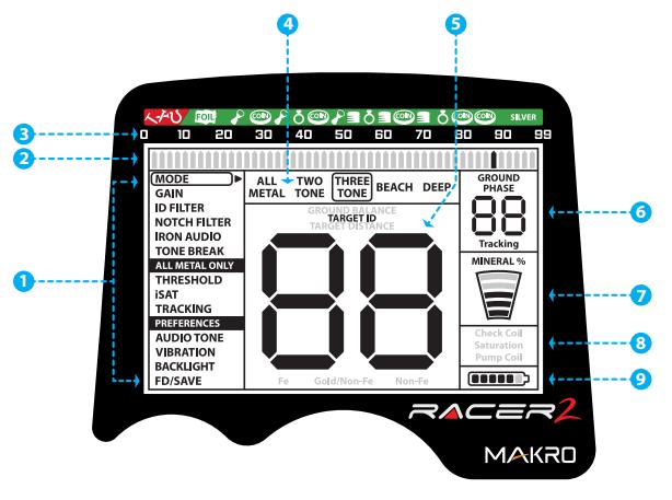 Металлоискатель makro racer 2 отзывы, цена, меню управления